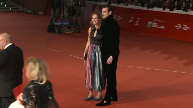 roberta armani giuseppe vicino at martin scorsese red carpet 13th rome film fest at auditorium parco della musica on october 20 2018 in rome italy - rome film fest stock videos and b-roll footage