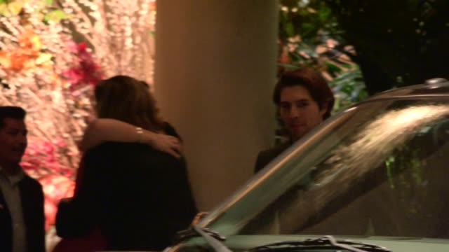 vídeos de stock, filmes e b-roll de roberto aguire departs the 19th annual elle women at four seasons hotel in hollywood 10/15/12 - four seasons hotel