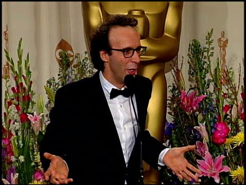 roberto benigni at the 1999 academy awards at the shrine auditorium in los angeles, california on march 21, 1999. - 71st annual academy awards stock videos & royalty-free footage