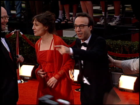 roberto benigni at the 2000 screen actors guild sag awards arrivals at the shrine auditorium in los angeles, california on march 12, 2000. - shrine auditorium video stock e b–roll
