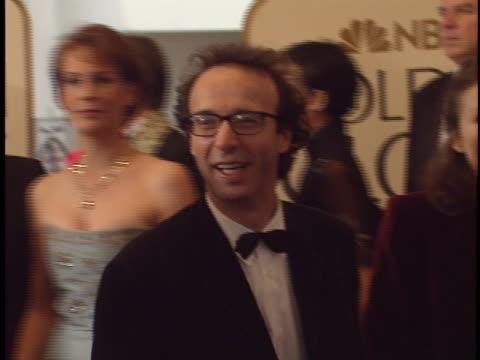 Roberto Benigni at the Golden Globes 99 at Beverly Hilton