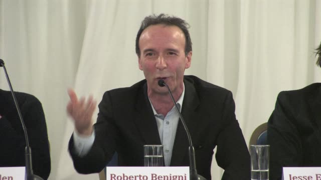 Roberto Benigni on accepting his role on working with Woody Allen and on his character at the To Rome With Love Press Conference on April 13 2012...