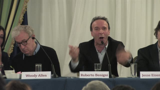 Roberto Benigni on his character on the movie in general and on working with Woody Allen at the To Rome With Love Press Conference on April 13 2012...