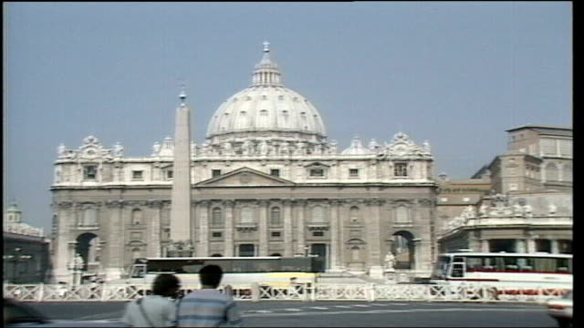 all five defendants acquitted by rome jury vatican city st peter's basilica - calvi stock videos & royalty-free footage