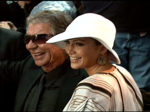 roberto cavalli and jennifer lopez at the cavalli ny flagship store launch at cavalli flagship store in new york new york on september 7 2007 - roberto cavalli stock videos and b-roll footage