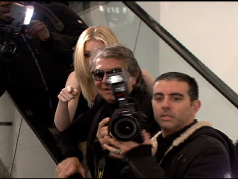roberto cavalli and model at the roberto cavalli for hm launch at hm in new york new york on november 8 2007 - roberto cavalli stock videos and b-roll footage
