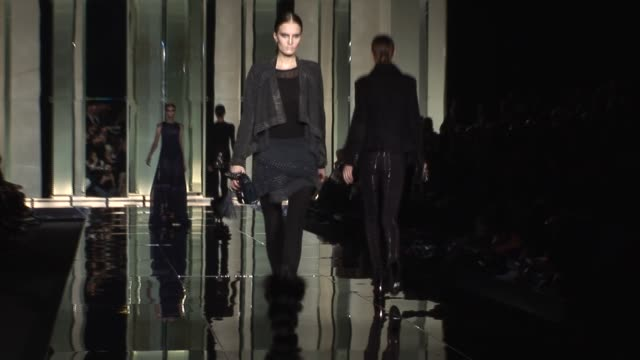 roberto cavalli at the roberto cavalli: milan fashion week a/w 2009 at milan . - roberto cavalli designer label stock videos & royalty-free footage
