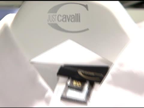roberto cavalli collection at the cavalli ny flagship store launch at cavalli flagship store in new york, new york on september 7, 2007. - ロベルト・カヴァリ点の映像素材/bロール