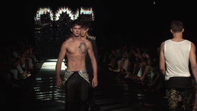 roberto cavalli - milan men's fashion at the roberto cavalli - milan men's fashion at milan . - roberto cavalli designer label stock videos & royalty-free footage