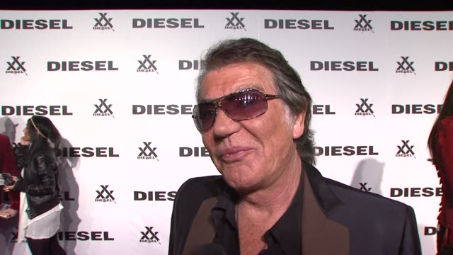 roberto cavalli, renzo rosso at the diesel xxx rock & roll circus - new york city at brooklyn ny. - roberto cavalli designer label stock videos & royalty-free footage