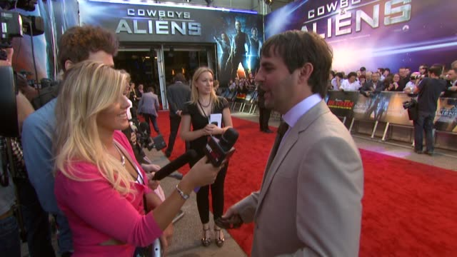 roberto orci at the cowboys aliens uk premiere at london england - cowboys & aliens stock videos and b-roll footage