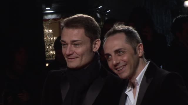 roberto rimondi & tommaso aquilano. at the dolce & gabbana party: milan fashion week at milan . - dolce & gabbana stock-videos und b-roll-filmmaterial