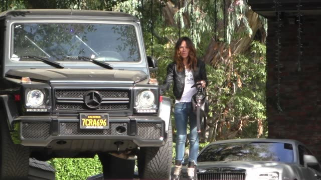 robin antin at kim kardashian's baby shower - avvistamenti vip video stock e b–roll
