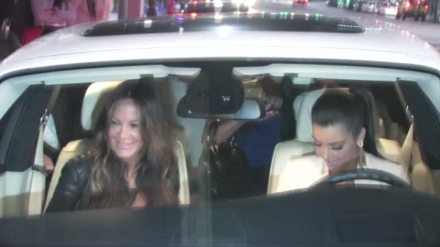 Robin Antin Kim Kardashian Mark Ballas Pia Toscano at Katsuya in Hollywood
