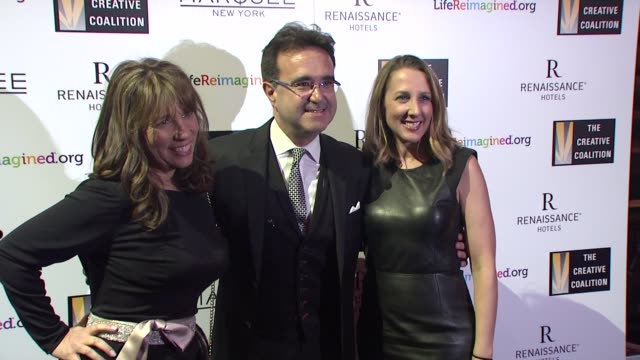 stockvideo's en b-roll-footage met robin bronk emilio pardo at the creative coalition's spotlight awards dinner gala at marquee on october 14 2014 in new york city - pardo