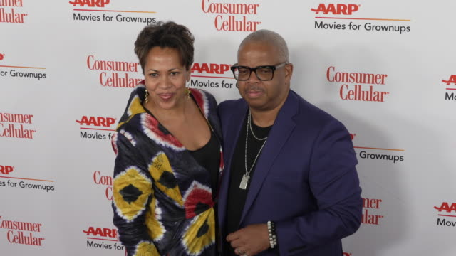 robin burgess and terence blanchard at the 18th annual movies for grownups awards at the beverly wilshire four seasons hotel on february 04, 2019 in... - フォーシーズンズホテル点の映像素材/bロール