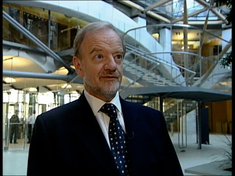 robin cook interview sot - it would be a very dangerous world if nations could go to war with countries because maybe a few years down the road it... - weapons of mass destruction stock videos & royalty-free footage