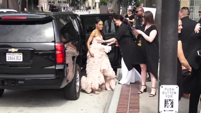 robin givens arriving to the 46th annual daytime emmy awards at pasadena civic center in pasadena in celebrity sightings in los angeles - annual daytime emmy awards stock videos & royalty-free footage