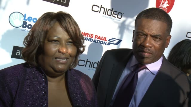 INTERVIEW Robin Paul Charles Paul on the event at The CP3 Foundation's Celebrity Server Dinner Hosted By Chris Paul in Los Angeles CA