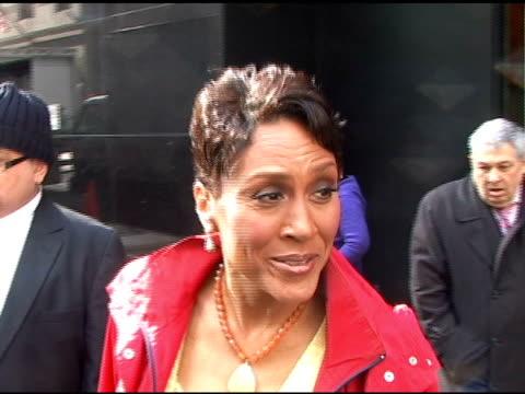 robin roberts at good morning america in new york 03/22/11 - good morning america stock videos and b-roll footage