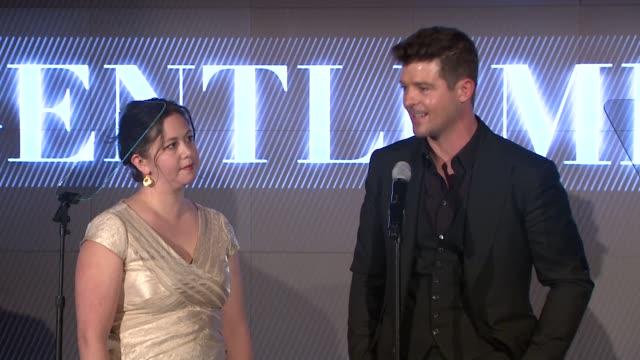 robin thicke thanks his wife paula on how she taught him how to be a gentleman and to be less selfish. speaks about being a singer/artist and wanting... - human back stock videos & royalty-free footage