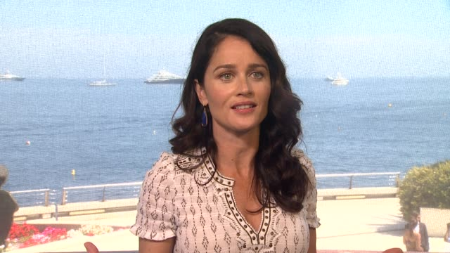 robin tunney on her european fans at the 53rd monte-carlo television festival - day 3 in monte-carlo, monaco, on 6/12/13. - robin day stock videos & royalty-free footage
