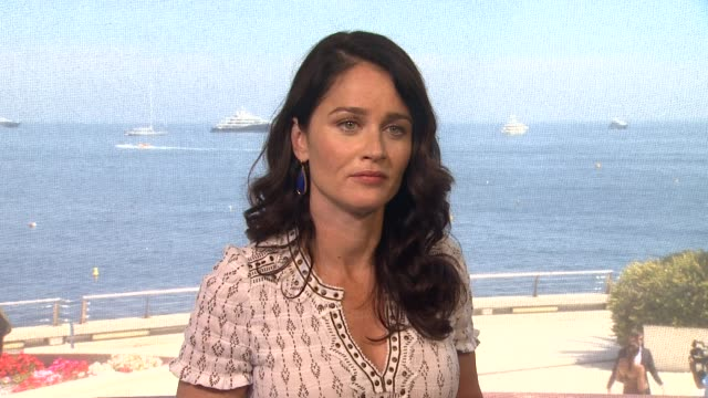 robin tunney on the next season of 'the mentalist' at the 53rd monte-carlo television festival - day 3 in monte-carlo, monaco, on 6/12/13. - robin day stock videos & royalty-free footage