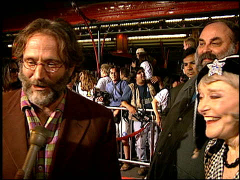 robin williams at the 'father's day' premiere at grauman's chinese theatre in hollywood, california on may 6, 1997. - robin day stock videos & royalty-free footage
