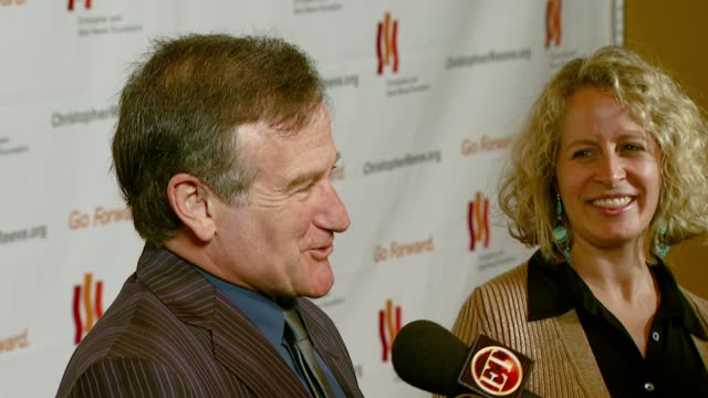 robin williams at the third annual los angeles gala for the christopher and dana reeve foundation honoring robin williams at the century plaza hotel... - christopher and dana reeve foundation stock videos and b-roll footage