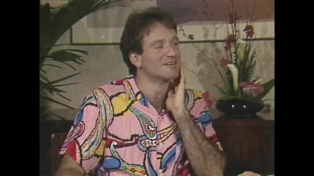robin williams on taking up stand-up comedy - comedian stock videos & royalty-free footage
