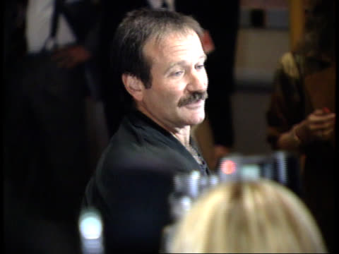 robin williams talks to reporters - friars roast 1993 stock videos and b-roll footage