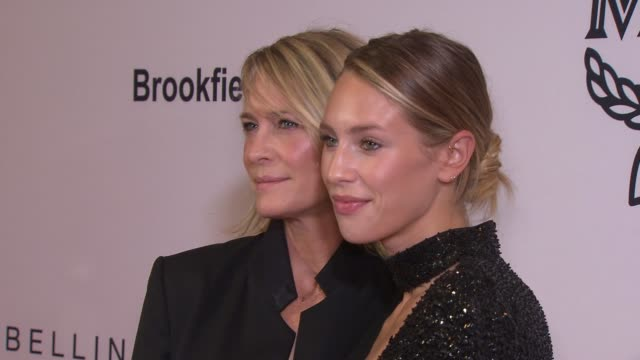 robin wright and dylan penn at daily front row's fashion media awards at four seasons hotel new york downtown on september 08 2017 in new york city - robin wright stock videos and b-roll footage