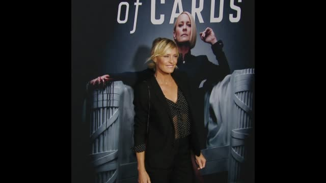 robin wright at house of cards season 6 premiere - robin wright stock videos and b-roll footage