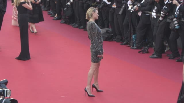 robin wright at 'ismael's ghosts' opening carpet on may 17 2017 in cannes france - robin wright stock videos & royalty-free footage