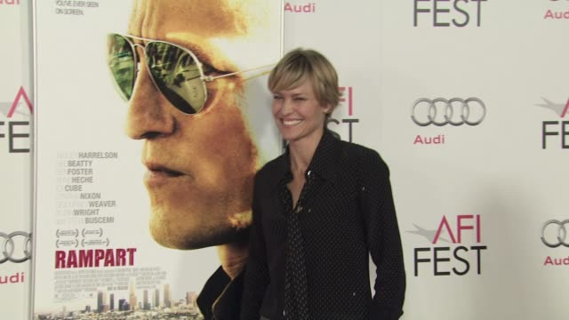 robin wright at the 2011 afi fest millennium entertainment's 'rampart' special screening at hollywood ca - robin wright stock videos and b-roll footage