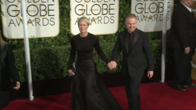 robin wright at the 72nd annual golden globe awards arrivals at the beverly hilton hotel on january 11 2015 in beverly hills california - robin wright stock videos and b-roll footage
