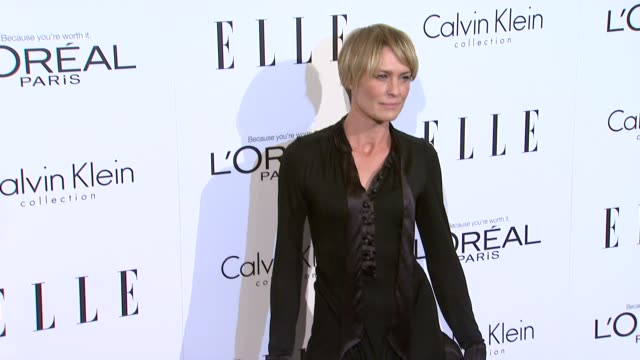 robin wright at the elle's 18th annual women in hollywood tribute at beverly hills ca - robin wright stock videos and b-roll footage