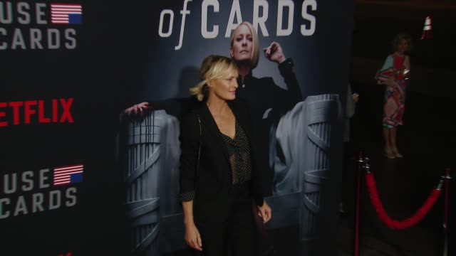 robin wright at the house of cards season 6 premiere at dga theater on october 22 2018 in los angeles california - robin wright stock videos and b-roll footage