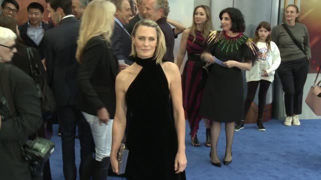 robin wright at wonder woman premiere in los angeles ca - robin wright stock videos and b-roll footage