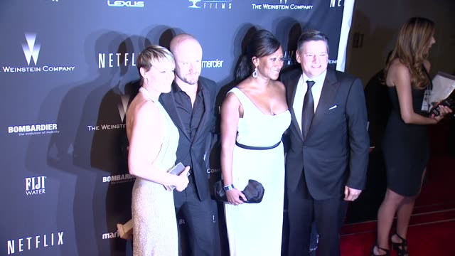 robin wright ben foster at the weinstein company netflix 2014 golden globes after party at the beverly hilton hotel on in beverly hills california - robin wright stock videos & royalty-free footage