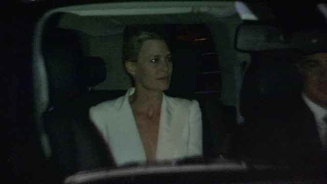 robin wright departs the emmy after party at hyde in west hollywood in celebrity sightings in los angeles - robin wright stock videos and b-roll footage