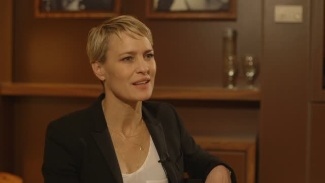 interview robin wright on being able to pick her film projects at 'the congress' interviews interview robin wright on being able to pick her on may... - robin wright stock videos and b-roll footage