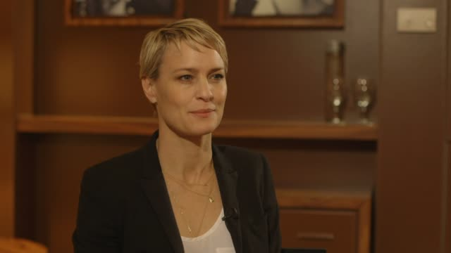 interview robin wright on her explanation of what the film is about at 'the congress' interviews interview robin wright on her explanation of on may... - robin wright stock videos and b-roll footage