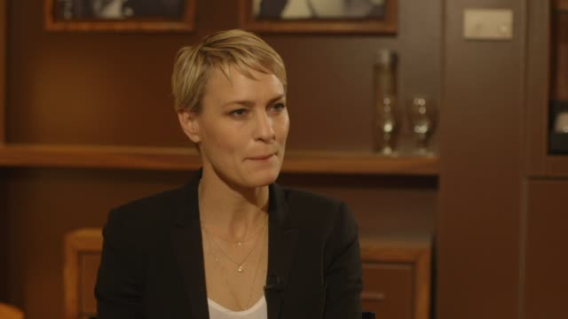 interview robin wright on the present lack of great roles for women in hollywood at 'the congress' interviews interview robin wright on the present... - robin wright stock videos and b-roll footage