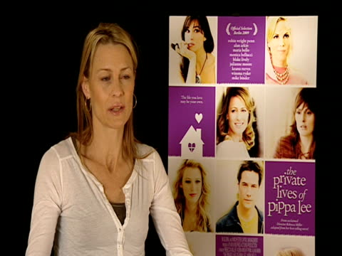 robin wright penn on having one full year working rebecca miller before the shoot at the 59th berlin film festival the private lives of pippa lee... - robin wright stock videos & royalty-free footage