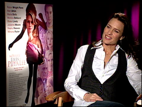 robin wright penn on her character pippa's journey at the 'the private lives of pippa lee' junket at los angeles ca - robin wright stock videos and b-roll footage