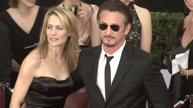 robin wright penn sean penn at the 15th annual screen actors guild awards part 3 at los angeles ca - robin wright stock videos and b-roll footage