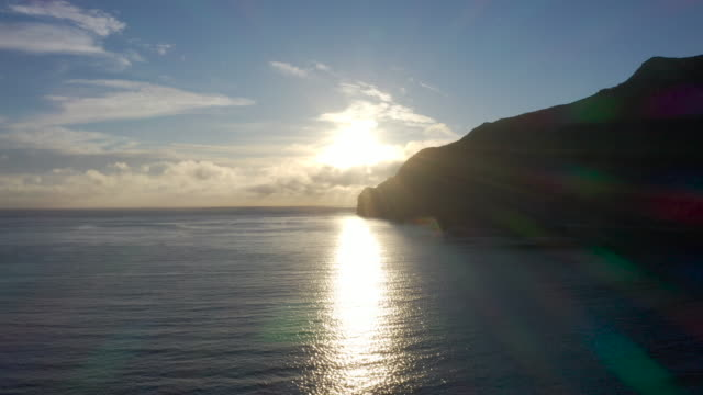 robinson crusoe island aerial drone - north pacific stock videos & royalty-free footage