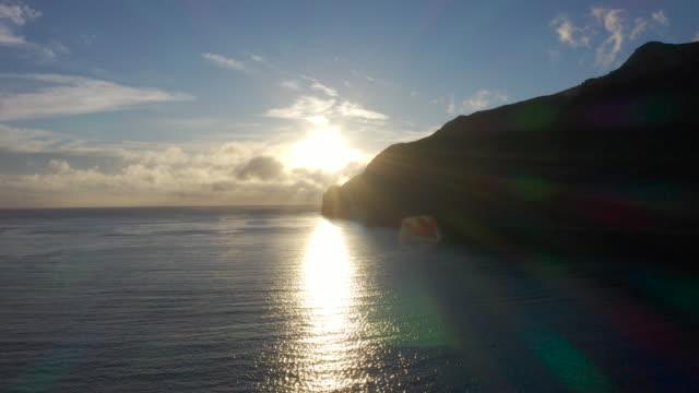 robinson crusoe island aerial drone - north pacific stock videos & royalty-free footage