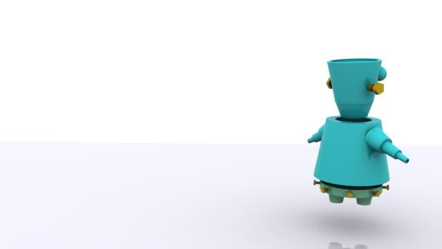 vídeos de stock e filmes b-roll de 3 d animação robô - personas